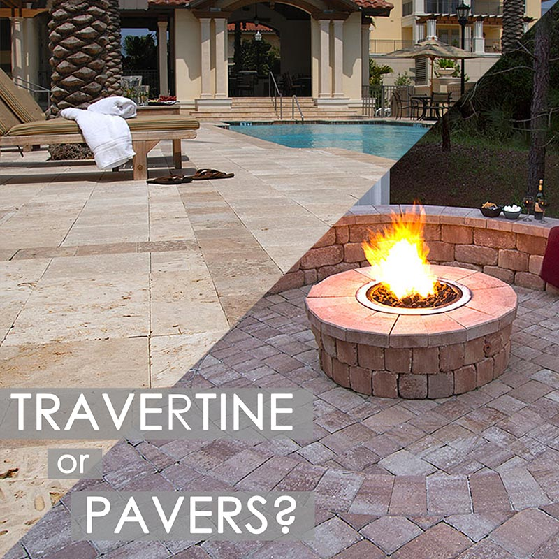 Travertine or Pavers Synergy Outdoor Kitchens Tampa