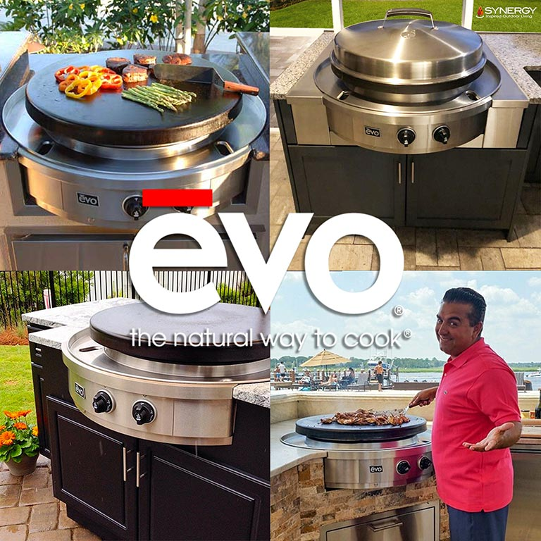 Social Grilling with Evo Cooktops - Tampa Florida Outdoor Living and Construction Company