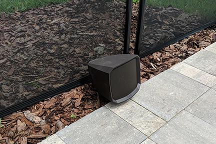 outdoor lanai speakers living area surround sound