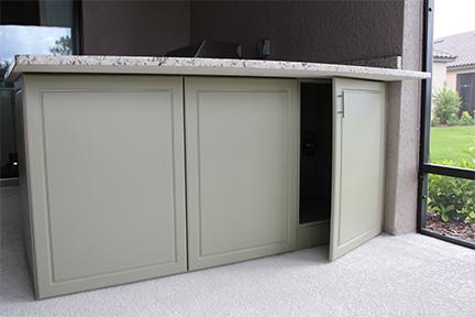 Under Cabinet Storage Outdoor kitchen Synergy Living
