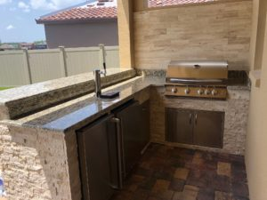 L Shape Outdoor Kitchen Design Synergy Outdoor Tampa