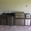 Wood Grain Outdoor Kitchen