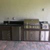 Wood Grain Outdoor Kitchen