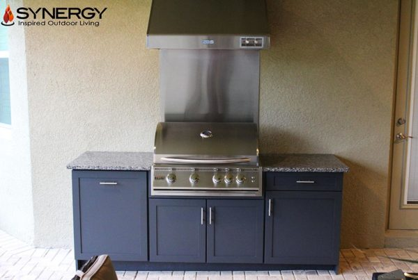 Outdoor Kitchen Construction Project - Custom Cabinets, Grill, Countertops Tampa Florida