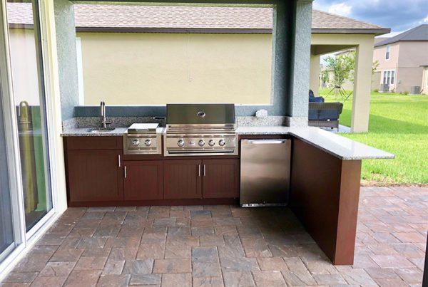 l shape outdoor kitchen