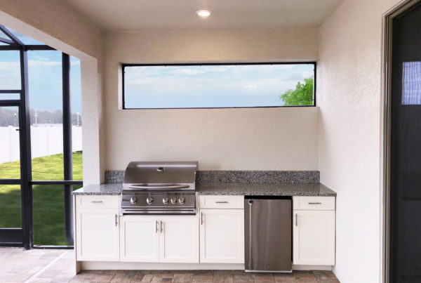 Straight Outdoor Kitchen