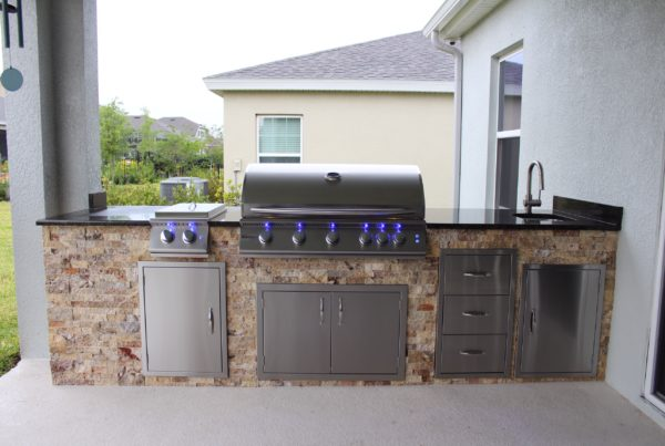 Travertine Outdoor Kitchen