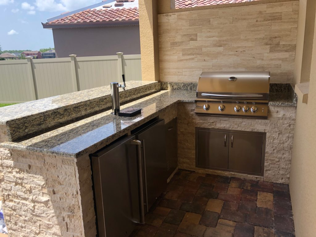 L-Shape Kitchen with Kegerator - Synergy Outdoor Living on Synergy Outdoor Living id=51203