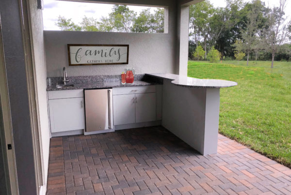 Outdoor Kitchen Round Bar Synergy Outdoor Living