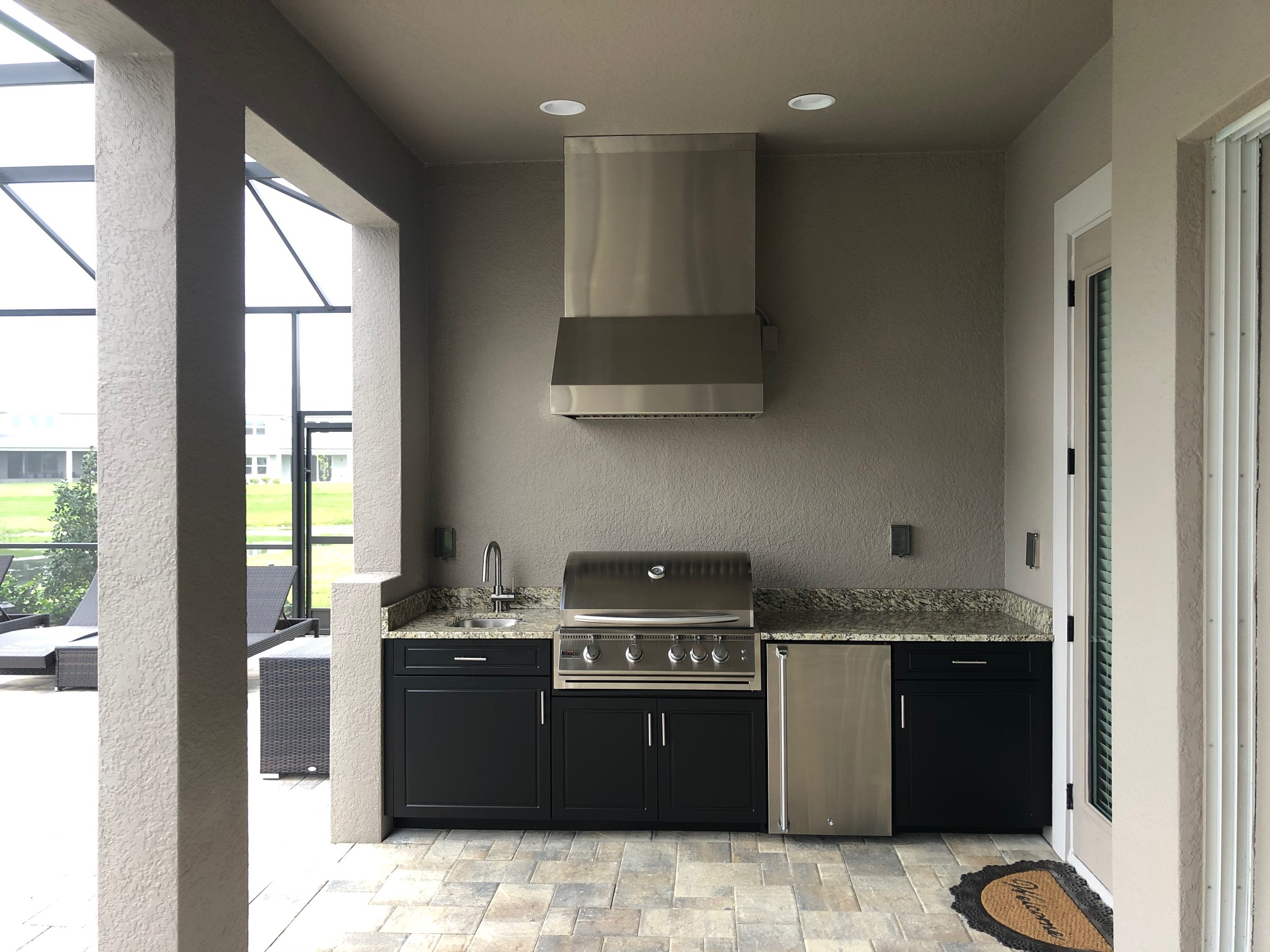 Outdoor Kitchen Range Hood Tampa FL Custom Home