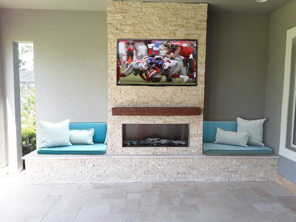 Fire Feature with TV