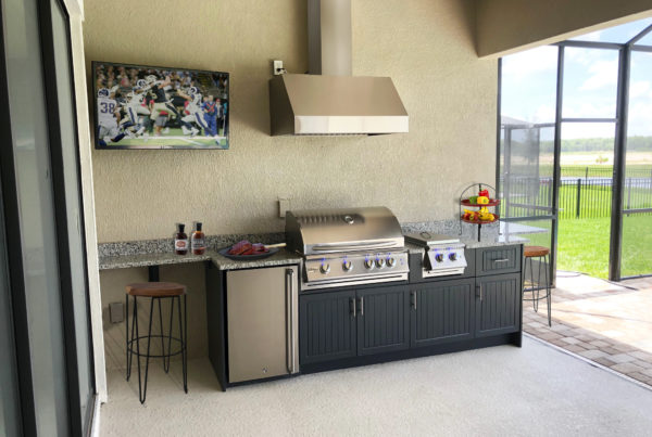 Outdoor Kitchen with TV Synergy Outdoor Living
