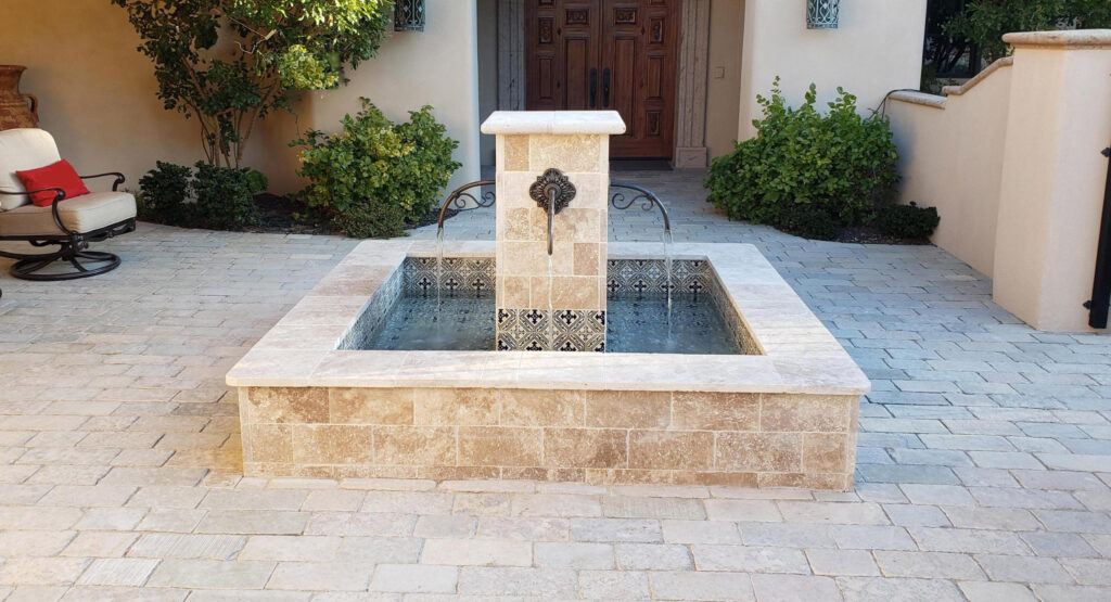 Custom Outdoor Water Fountain Feature